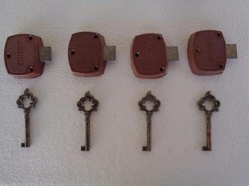 fechadura plástico e metal com chave colonial gavet armário
