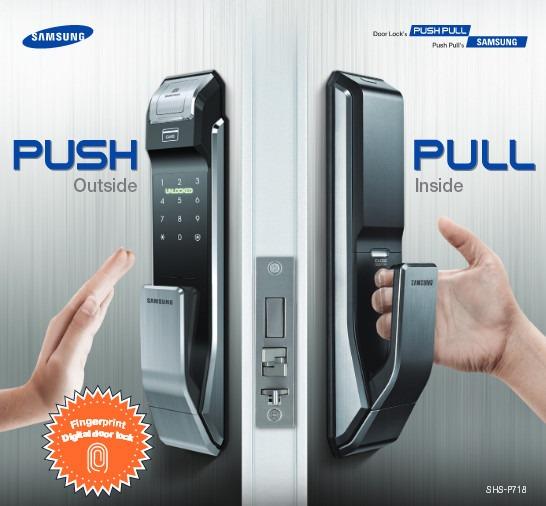 Fechadura Samsung Digital Shs P718 Lmk Push Pull Touch