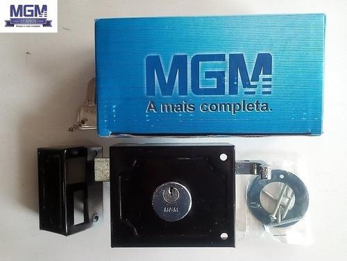 fechadura sobrepor para portão mgm - 2 chaves