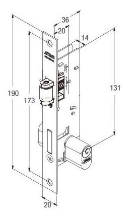 fechadura stam pivotante 601 rolete perfil estreito cromado