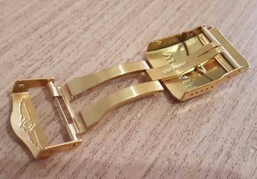 fecho deployant 26mm dourado