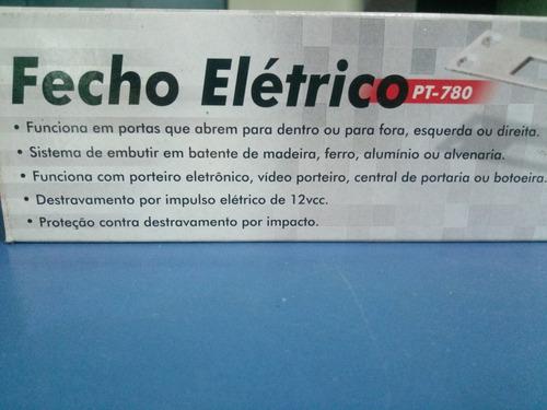 fecho elétrico pt-780 protectition trinco ajustável p/portas