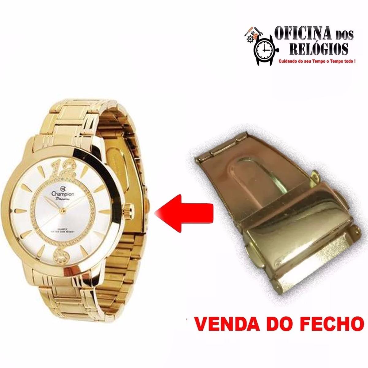 3ecce00c56e Fecho P  Relógio Champion Ch24259h Dourado Frete Grátis - R  29