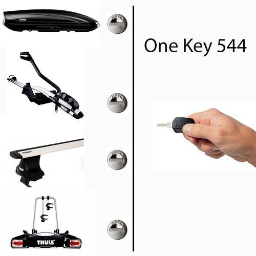 fechos thule system 544 one key 1 só chave para 4 segredos