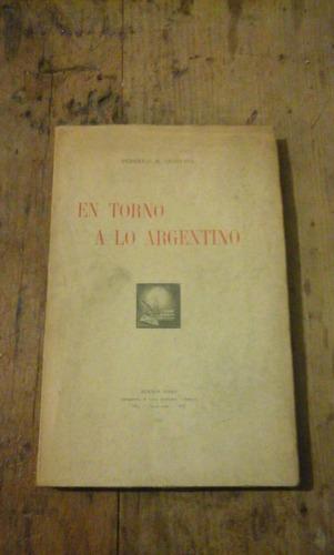 federico m. quintana- en torno a lo argentino, 1941