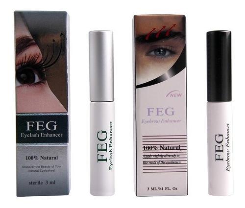 feg serum para cejas + feg serum para pestañas, 100%original