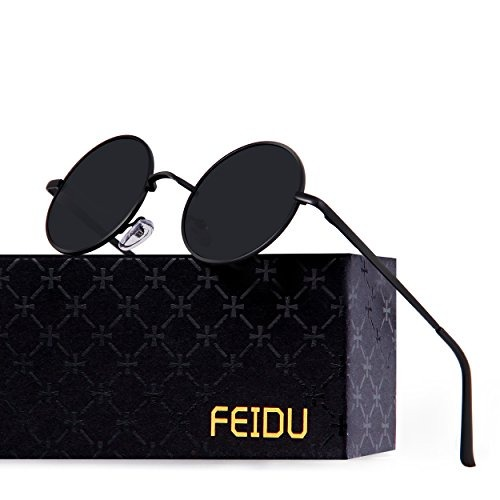511faca0af Feidu Gafas De Sol Redondas Polarizadas Redondas Para Hombre ...