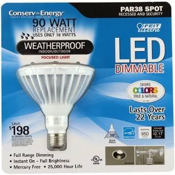 feit electric: par38 regulable de luz led bombilla - resiste