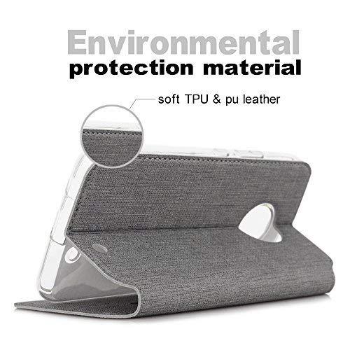 feitenn moto x4 premium flip leather pu billetera smart...