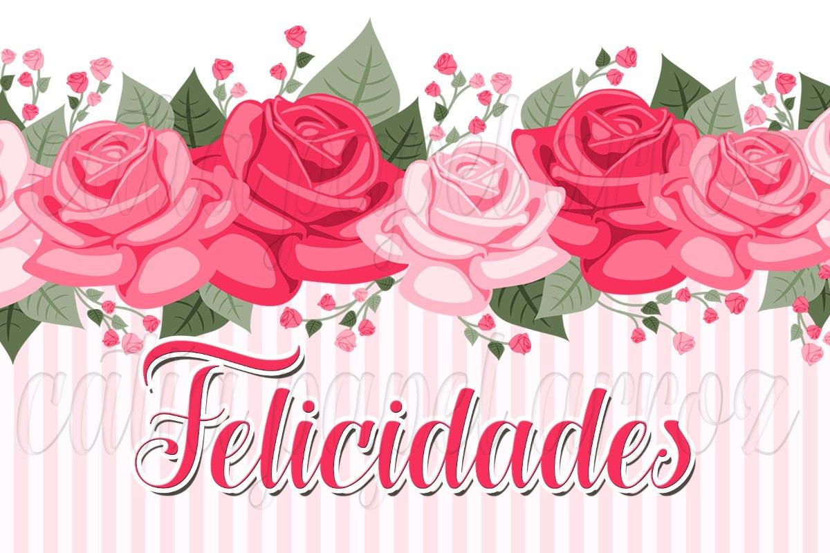 Felicitaciones De Cumpleaños Con Flores: Felicidades Flores Papel De Arroz Para Bolo A4