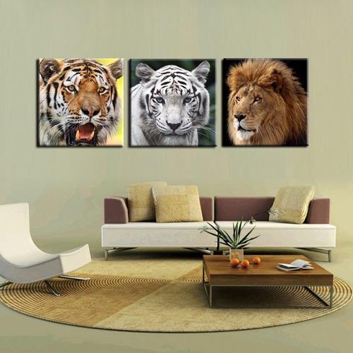 felinos cuadros bastidores en tela canvas 50 cm x 50 cm