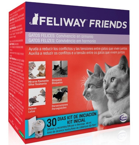 feliway friends difusor multicat 48ml gatos