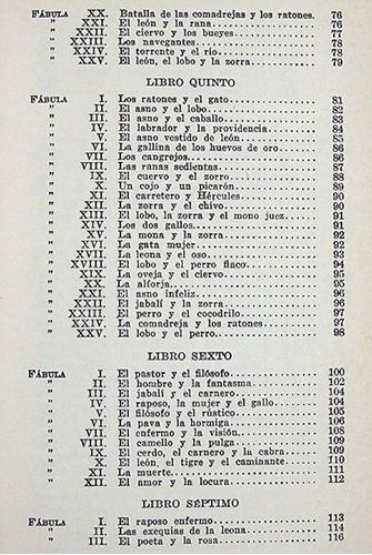 félix maría samaniego fábulas colección austral espasa calpe