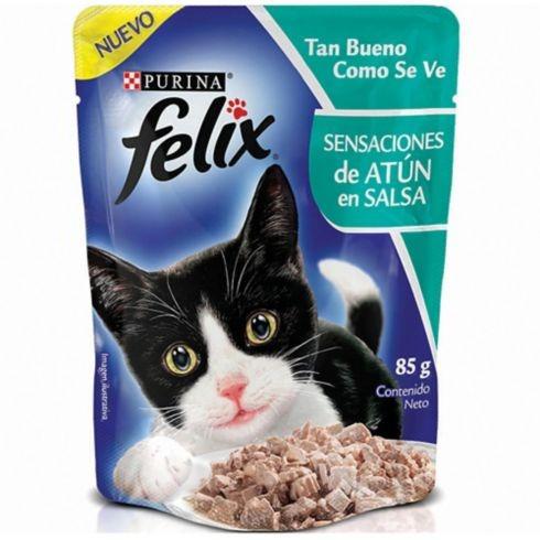felix pouche atún en salsa 85 gr escensial para gatos hc.