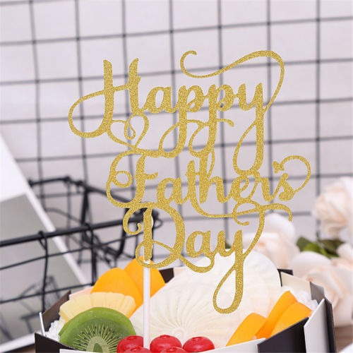 Feliz Día De La Padre Pastel Banderas Para La Decoración De