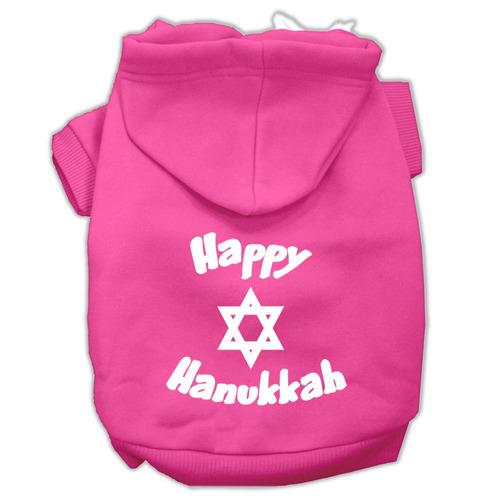 feliz hanukkah pantalla impresión pet hoodies rosa brillant