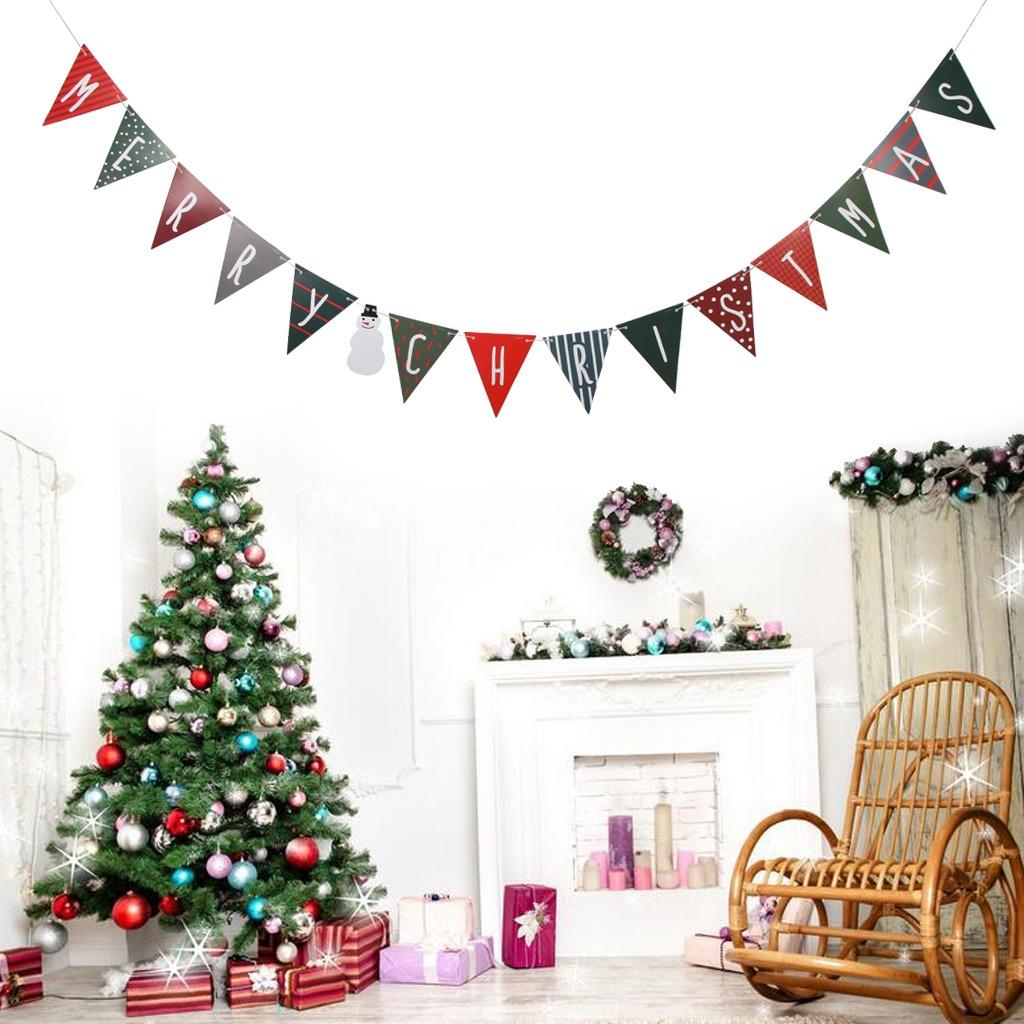 Inicio Feliz Navidad.Feliz Navidad Cartas Bunting Banner Garland Sign Inicio