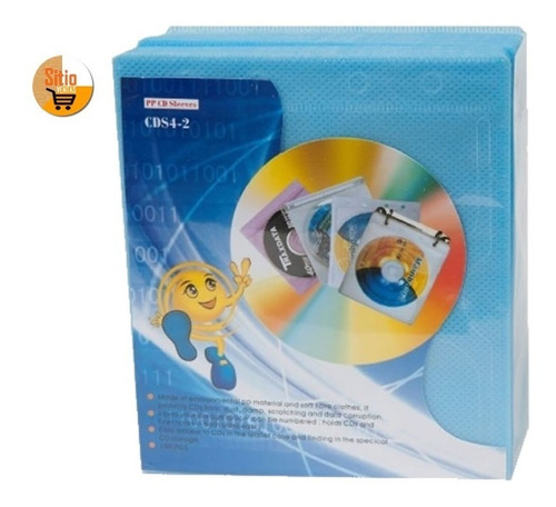 felpa estuche x100 und para toda clase discos cd dvd blu-ray