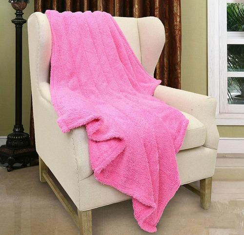 felpa sherpa throw blanket para sofá cama, fuzzyfleece...