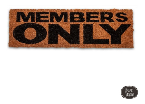 felpudo members only coco natural y goma 25 x 75 cm