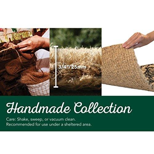 felpudos de fibra de coco hechos a mano, estilizados a mano,