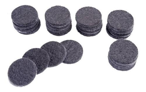 feltro adesivo para móveis e uso geral redondo 28mm-48 peças