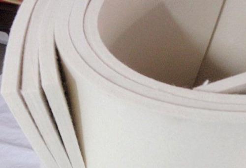 feltro branco meio duro 25 x 1000 x 1400mm