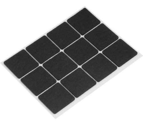 feltro quadrado adesivo 30mm cartela c/12pçs tekbond