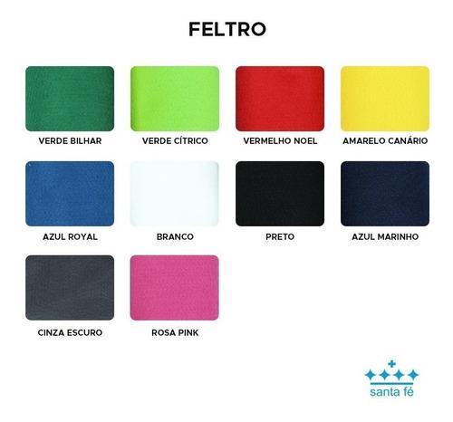 feltro santa fé cores artesanato 1,00x1,40 metro imperdível