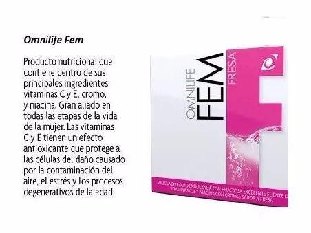fem omnilife hormonas enfermedades de la mujer(no engorda)