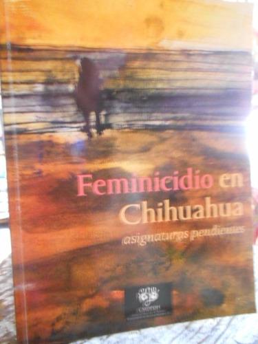 feminicidio en chihuahua asignaturas pendientes.