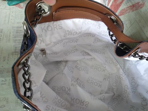 41adcaa2e feminina alça bolsa. Carregando zoom... bolsa feminina mk saco jeans com  spikes e alça em corrente