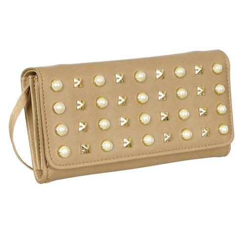 16dd0d6ad feminina alça carteira. Carregando zoom... carteira feminina de mão pérolas  tachas e alça transversal