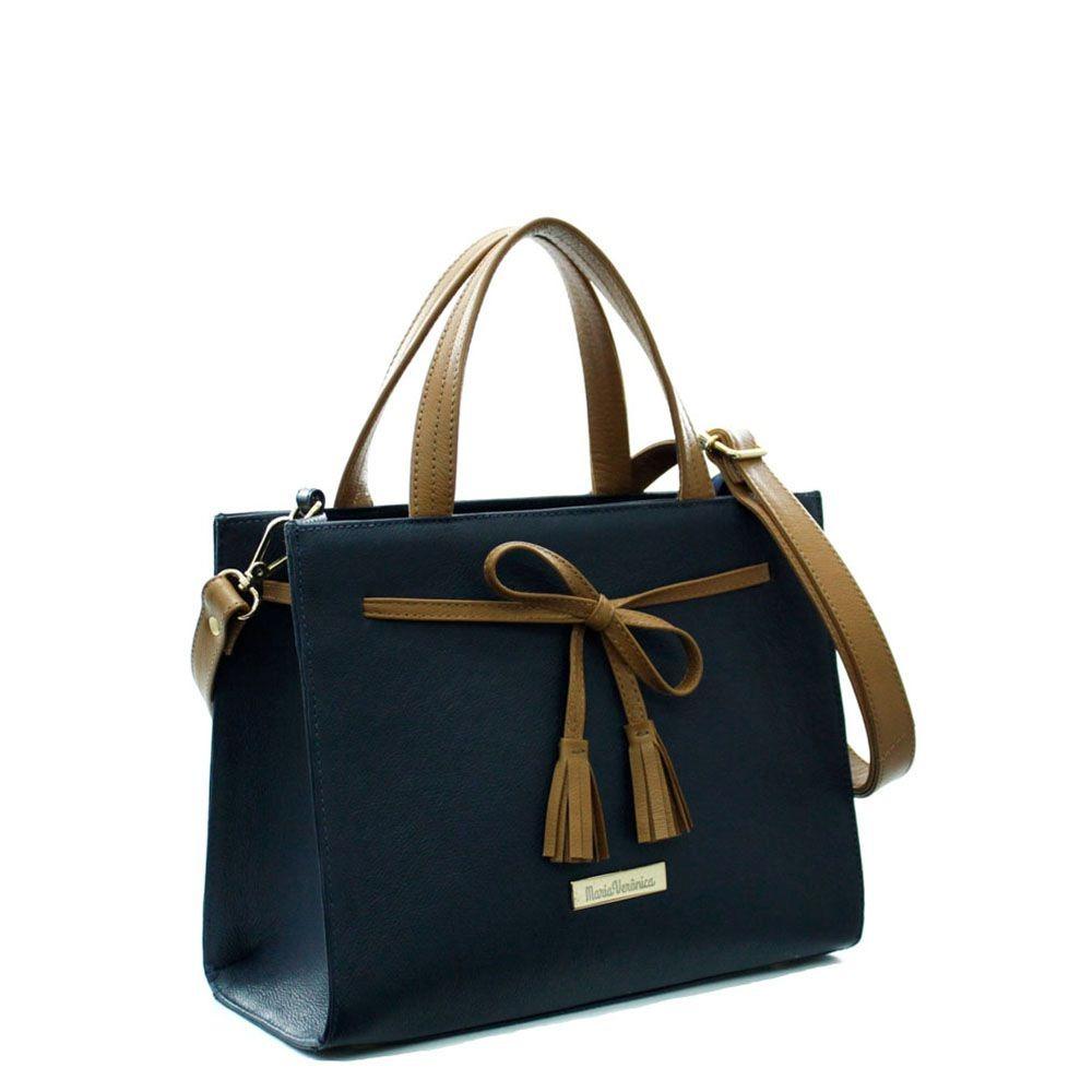 815eb987d Carregando zoom... bolsa feminina quadrada laço couro legítimo cor azul/ marrom
