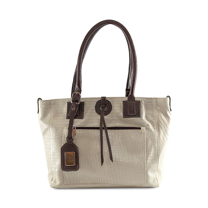 ca026df6c Carregando zoom... bolsa feminina de couro legitimo modelo de ombro isis  marfim