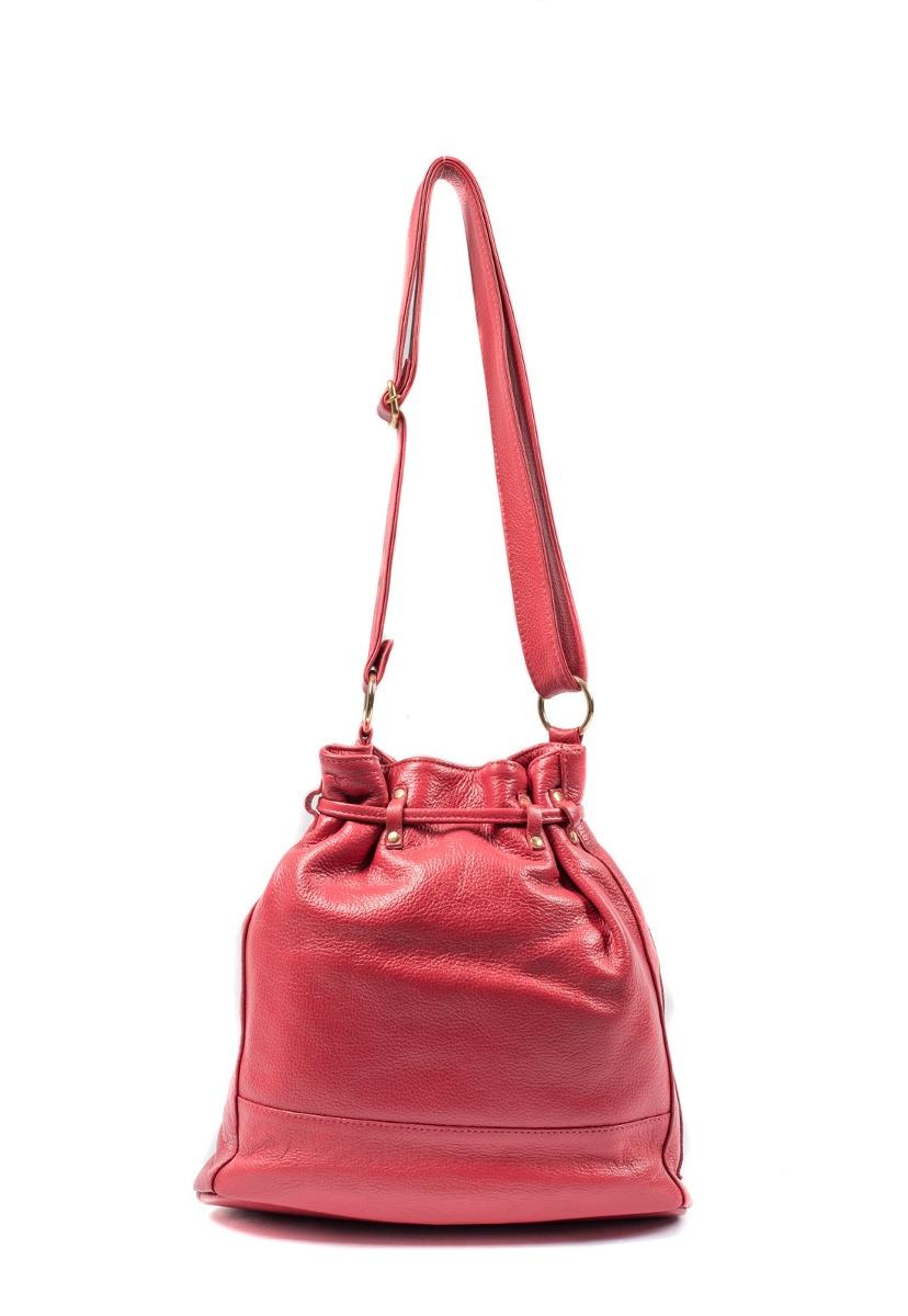 d5242f68c Carregando zoom... bolsa saco feminina brilho da pele couro legítimo  vermelha