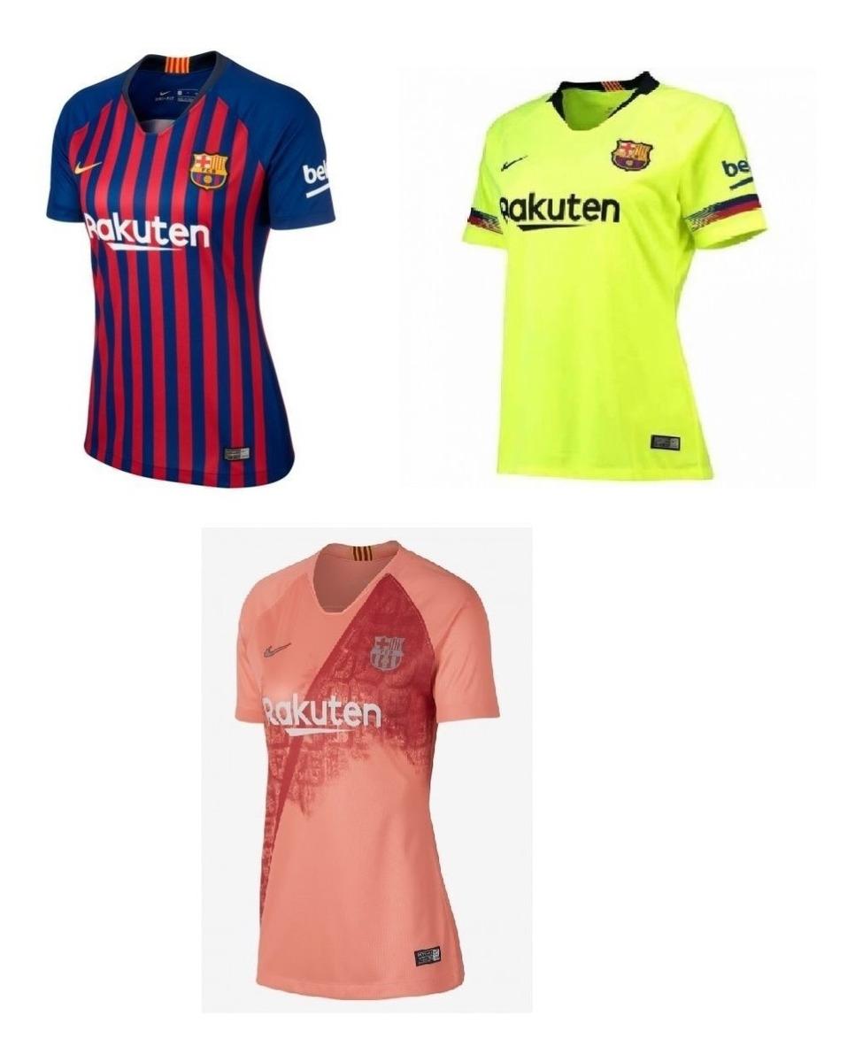 0d36a019cd Feminina Do Barcelona Uniformes 1, 2 E 3 Personalize Grátis - R$ 119 ...