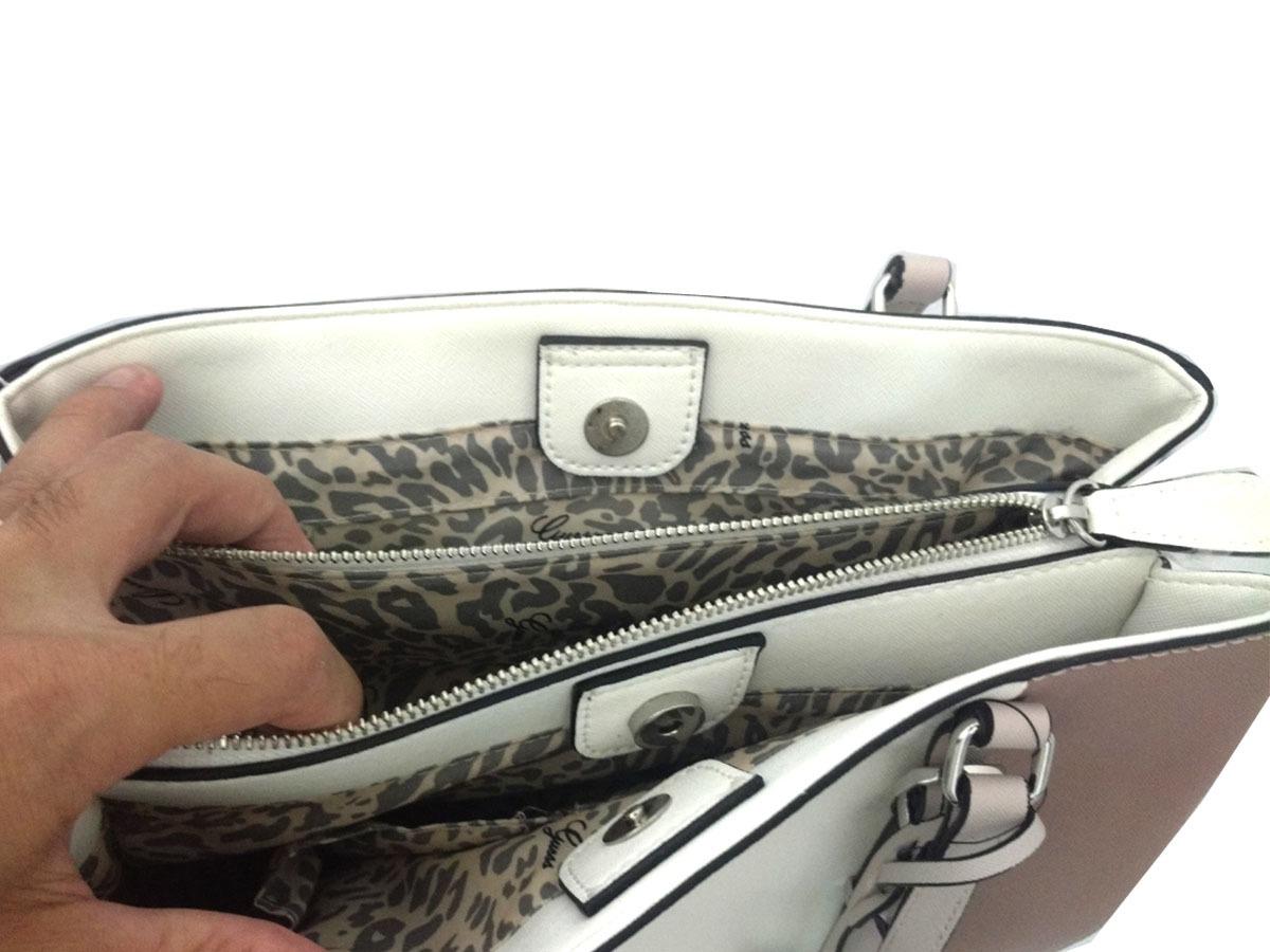 5c3ed7b98 Bolsa Feminina Guess Los Angeles De Mão E Ombro Mauve Multi - R$ 549 ...