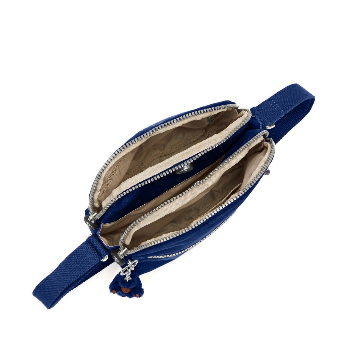 83f2a65bd Carregando zoom... bolsa feminina kipling azul marinho - original
