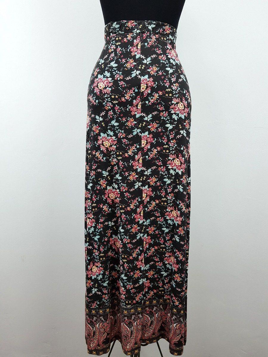 ffbd093bbb Carregando zoom... saia feminina longa doce trama cintura alta estampa  floral