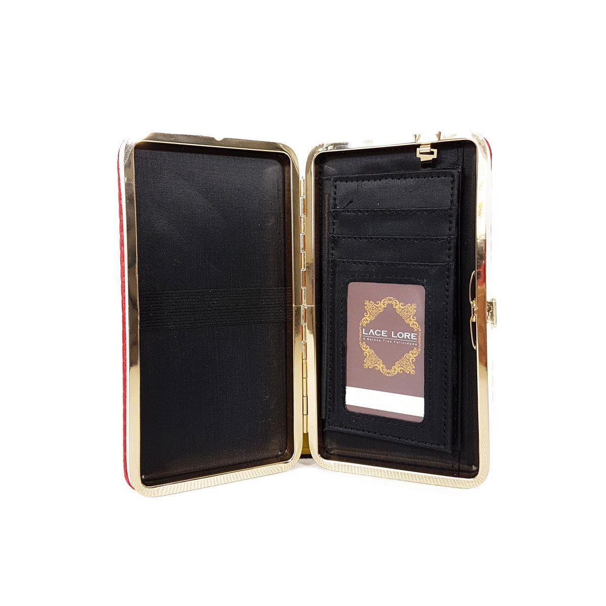be7b374fed Carteira Feminina Verniz Clutch Mão Cartões Porta Celular - R$ 35,00 ...