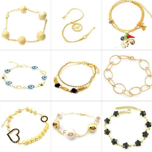 femininas ouro pulseiras