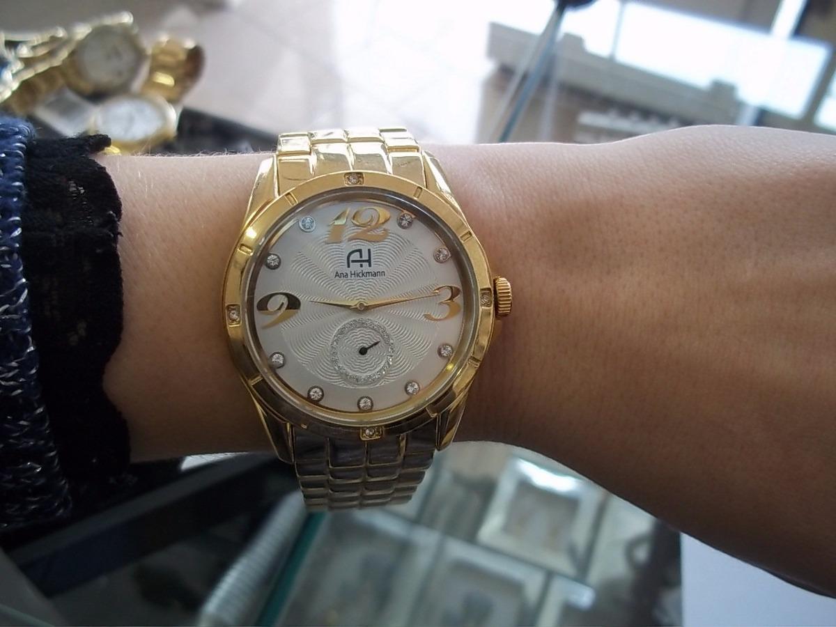 a4466977d0e Relógio Feminino Ana Hickmann Dourado - R  571
