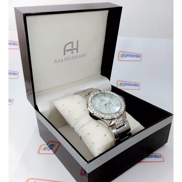 5111c74b58b relógio feminino ana hickmann prateado swarovski ah30193q · relógio  feminino ana · feminino ana relógio