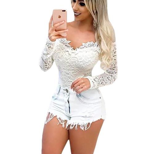 feminino blusa body body manga