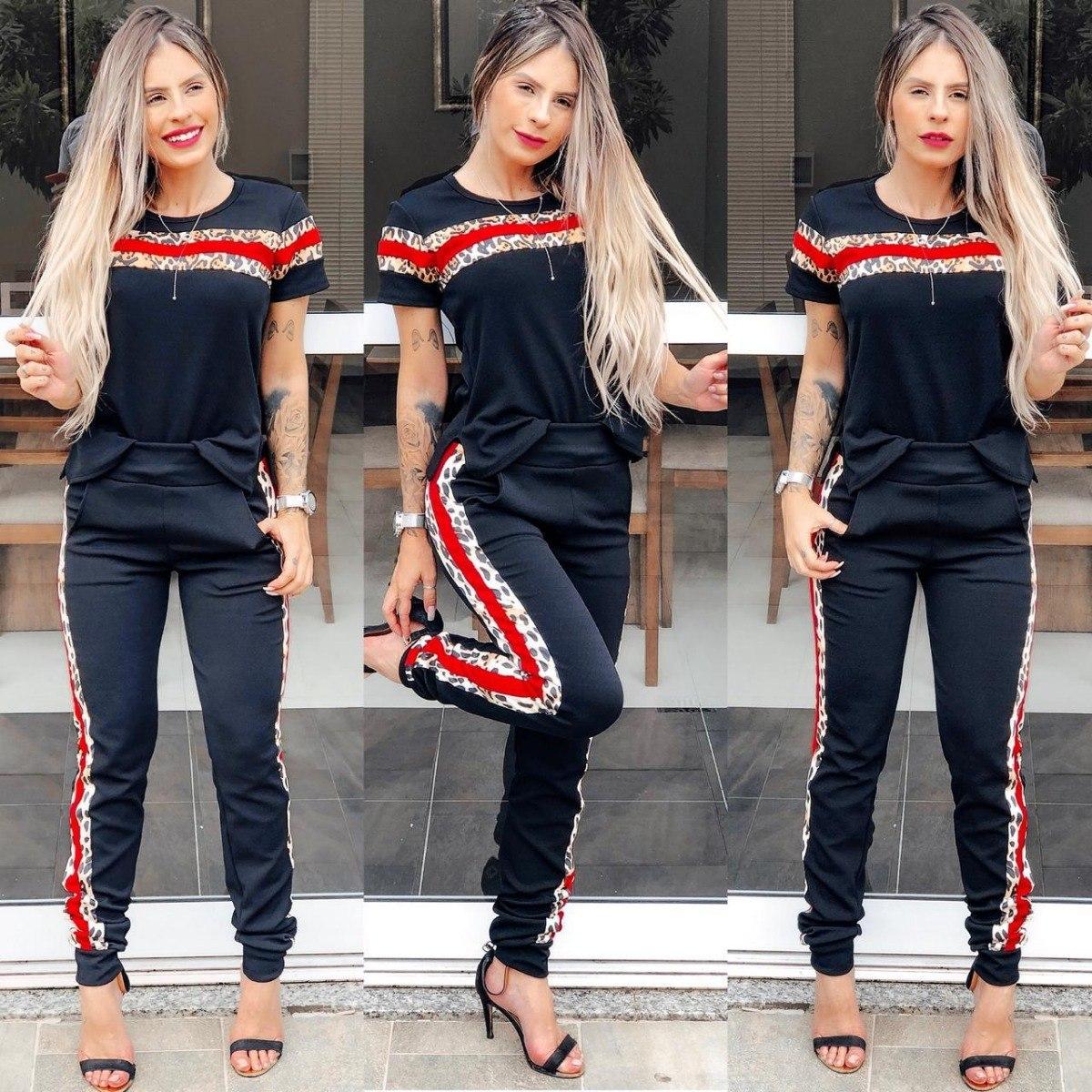6853d89da Características. Marca labelle moda; Modelo conjunto feminino outono;  Material da blusa ...