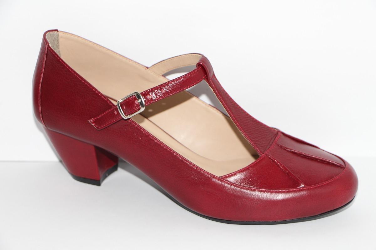 2343c47cfd Sapato Feminino Boneca Dança De Salão 5cm Couro Legítimo R6 - R  189 ...