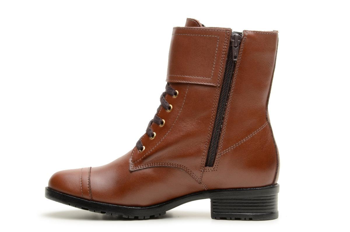 ef367bdc2 Carregando zoom... coturno baixo feminino bota couro marrom e preto estiloso