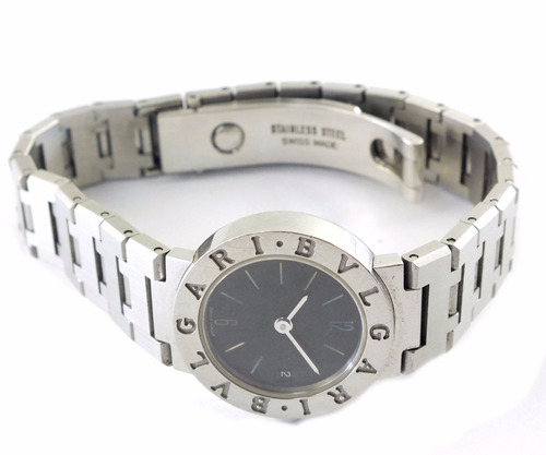 f7118c03ed1d2 Relógio De Pulso Feminino Bvlgari Todo Em Aço J17292 - R  5.999,00 ...