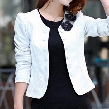 19dc68ad86 blazer feminino manga longa lindo casaco jaqueta terninho · blazer feminino  casaco · feminino casaco blazer